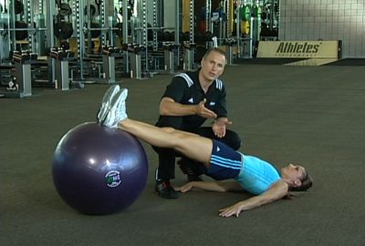 Glute Bridge Wwith Physioball